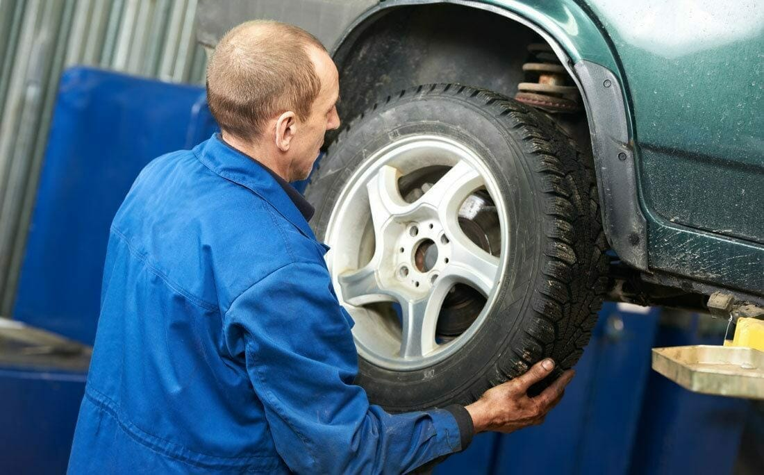 getting Ready to Remove a Tire